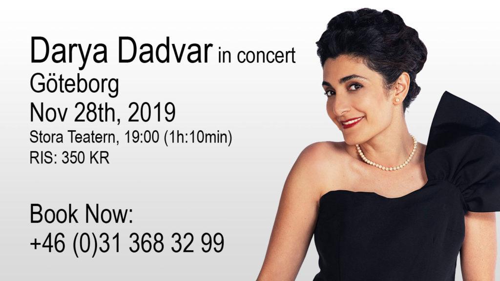 Darya Dadvar in concert - Göteborg, Nov 2019